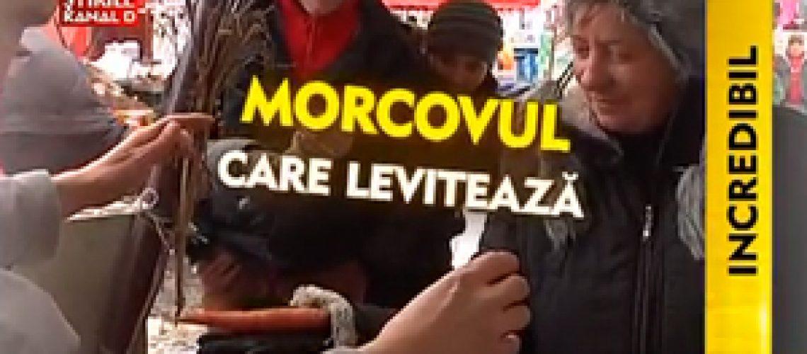 Morcovi care leviteaza intr-o piata din Sibiu